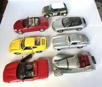 Lot of 7 Diecast Cars 1:18 Scale Burago Maisto Anson Hot Wheels Jadi FOR PARTS