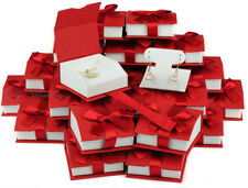 Earring Gift Boxes for Pendant Red Jewelry Gift Boxes T Style Earring Boxes 36Pc