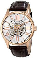 NEW Stuhrling Original 747.04 Men's Atrium Automatic Skeleton Rose Brown Watch