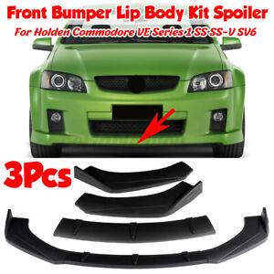 Matte Black Front Bumper Splitter for Holden Commodore VF VE Series 1 2 SS SV6