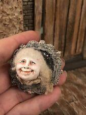 Miniature Artist Jil Weisz Sculpted Mirror ghost 1:12 Attic Halloween  -Aunty E-