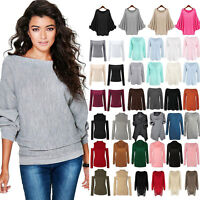 Womens Winter Loose Knitted Sweater Jumper Dress Casual Long Sleeve Pullover Top