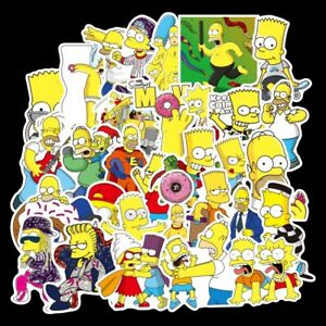 Simpsons Themed 50 Stickers Skateboard Laptop Car Phone Decal Stickerbomb UK NEW