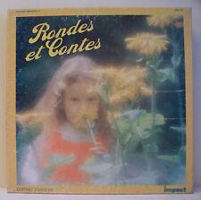 3 x 33T RONDES ET CONTES ENFANTS Coffret Disques LP COMPTINES - IMPACT 6993 101