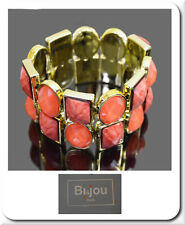 Armband  Armreif Armspange  Armkette Manchette Vergoldet Orange  BI&JOU Paris