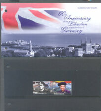 Guernsey-60th Anniv Liberation mnh set & pack-World war II