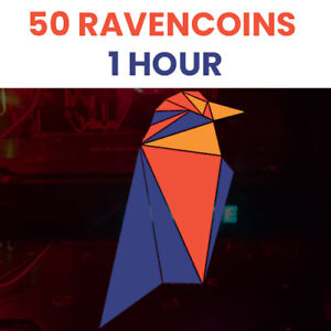 FAST - 50 Ravencoin (RVN) Crypto Mining Contract - 1 HOUR