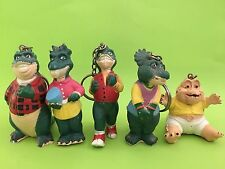 Dinosaur TV Series Complete Family of 5 Keyring Keychains