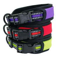 Reflective Dog Collars Soft Padded Safety Nylon Collars for Dogs Bulldog Pitbull
