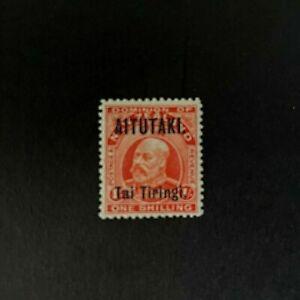 Aitutaki (Cook Island): 1912, King Edward VII overprint, 1/-, Mint