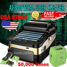"50000 Ai-8 Automatic Optical Fiber Fusion Splicer Night Operation 5"" LCD Display"