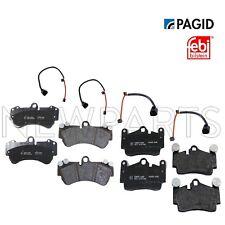 For Porsche Cayenne VW Touareg Front & Rear Disc Brake Pad & Sensors KIT