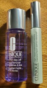 FULL SIZE CLINIQUE HIGH IMPACT BLACK WATERPROOF MASCARA + MAKEUP REMOVER 1.7oz