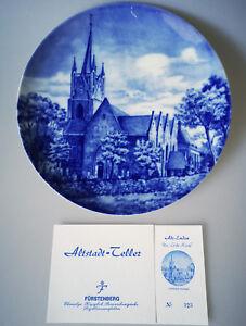 Altstadt Teller Emden die große Kirche Fürstenberg Porzellan Limitiert
