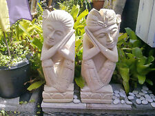 Balinese Welcome Statues - Real Stone 60cm high