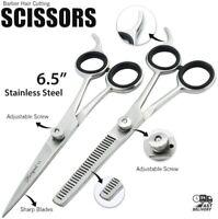 Professional Hairdresser 6.5 Inch Hairdressing Cut Thinning Barber Scissors Set