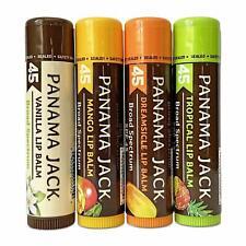 Panama Jack Sunscreen Lip Balm - SPF 45, Flavor Pack, Broad Spectrum UVA-UVB