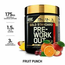 Optimum Nutrition ON Gold Standard Pre Workout Amino BCAA Fruit Punch Creatine