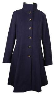 Laura Ashley Coat UK14 Blue Wool & Cashmere Mix