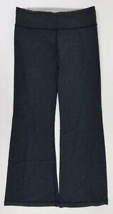 Lululemon Women's Groove Wide Leg Reversible Yoga Pants Size 10 Gray.  B26