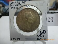 Sarawak KM#19 1927H 50 Cents, Large Coin, Charles Brooke