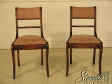 29226: Pair Regency Style Carved Oak Upholstered Occasional Chairs