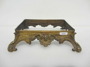 Antique Brass Base Holders Stand Old Rococo Baroque Victorian Georgian Shell