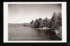 Bemidji Minnesota 40s RPPC Oak Point Resort Lakeside MN