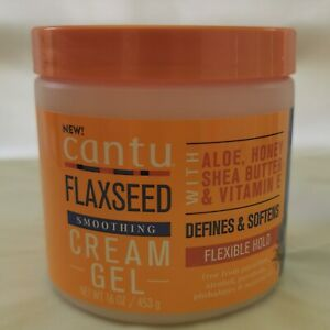 Cantu Flaxseed Smoothing Cream gel 16oz- Australia Stock