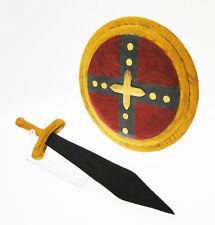 Scudo Romano rotondo  con spada in legno