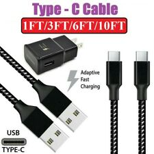 1/3/6/10Ft Fast Charger Type C USB-C Cable For Samsung Galaxy S10 S9 S8 Note 8