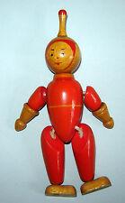 Old Vintage 1960s Russian Ussr Soviet Union Wooden doll toy Astronaut Cosmonaut