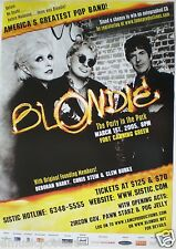 BLONDIE 2005 SINGAPORE CONCERT TOUR POSTER -Debbie Harry, Punk New Wave Legends!