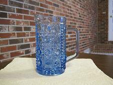 "VINTAGE BLUE CUT GLASS 6"" PITCHER / CREAMER"