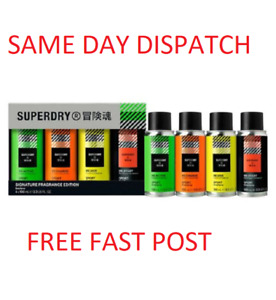 Superdry SPORT Signature Body Spray Quad Mens Gift Set 4 x 100ml - FAST DISPATCH