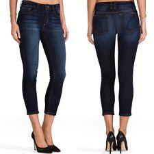 NWT JOE'S Sz27 FLAWLESS CUFF CROP MIDRISE SKINNY STRETCH JEANS EDA BLUE Women's Jeans