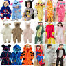 Kids Baby Boys Girls Pajamas Cartoon Animal Jumpsuits Cosplay Costume Sleepwear