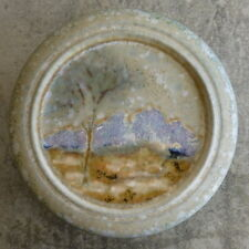 Forest Range Pottery Trinket Bowl with Lid Landscape Scene Australian  Pottery