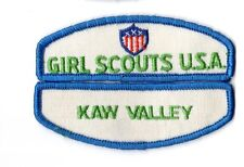 Kaw Valley ~ Junior Cadette Girl Scouts Council ID Patch Set ~ Pre-Owned