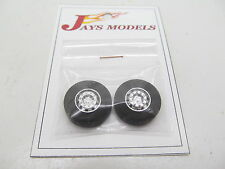 Pair of Chrome Front Wheels and Tyres to suit 1:50 Scale Truck Models - WSI