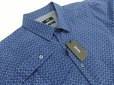 NEW $145 HUGO BOSS Men's Shirt Size XL Slim Fit Blue