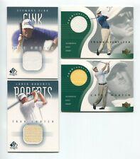 Stewart Cink Upper Deck Golf Shirt Patch Card +3 More Lot of (4) Cards