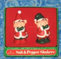 New Vintage Hallmark Elves Salt and Pepper Shakers Christmas Holiday Elf