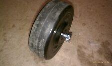 "8Hh52 Hard Rubber Wheel, 4"" X 1-1/4"", Hard Nylon Sleeve Bearing, 3/8"" Axle Bolt"