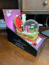 Nightmare Before Christmas Santa Jack Sleigh Musical Light-Up Snow Water Globe