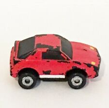 MICRO MACHINES 1980's Red Sports Car Vintage Toy Collectible Red Color Small