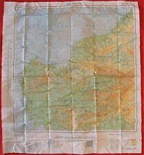 WW2 ROYAL AUSTRALIAN AIR FORCE SILK ESCAPE MAP 1944 WEST & EAST BORNEO