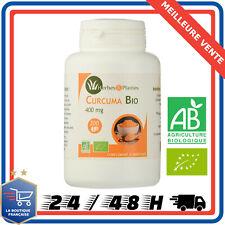 Herbes Et Plantes Curcuma 100% Bio 200 Comprimés 400 mg Complément Alimentaire