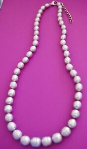 HONORA SILVER GREY LARGE CULTURED FRESHWATER RING PEARL GRADUATED NECKLACE QVC