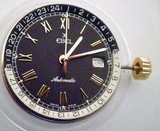 Men's Ebel Black GMT Automatic 21 Jewel Wrist Watch Movement Eta 2892-2 (Z90)